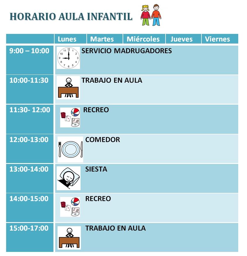 horario aula infantil