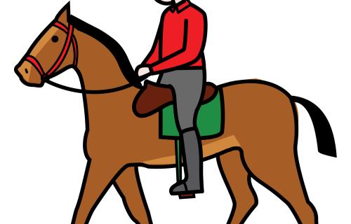 Nos lo pasamos genial con nuestros amigos los caballos