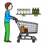 Un día de compras en un supermercado diferente