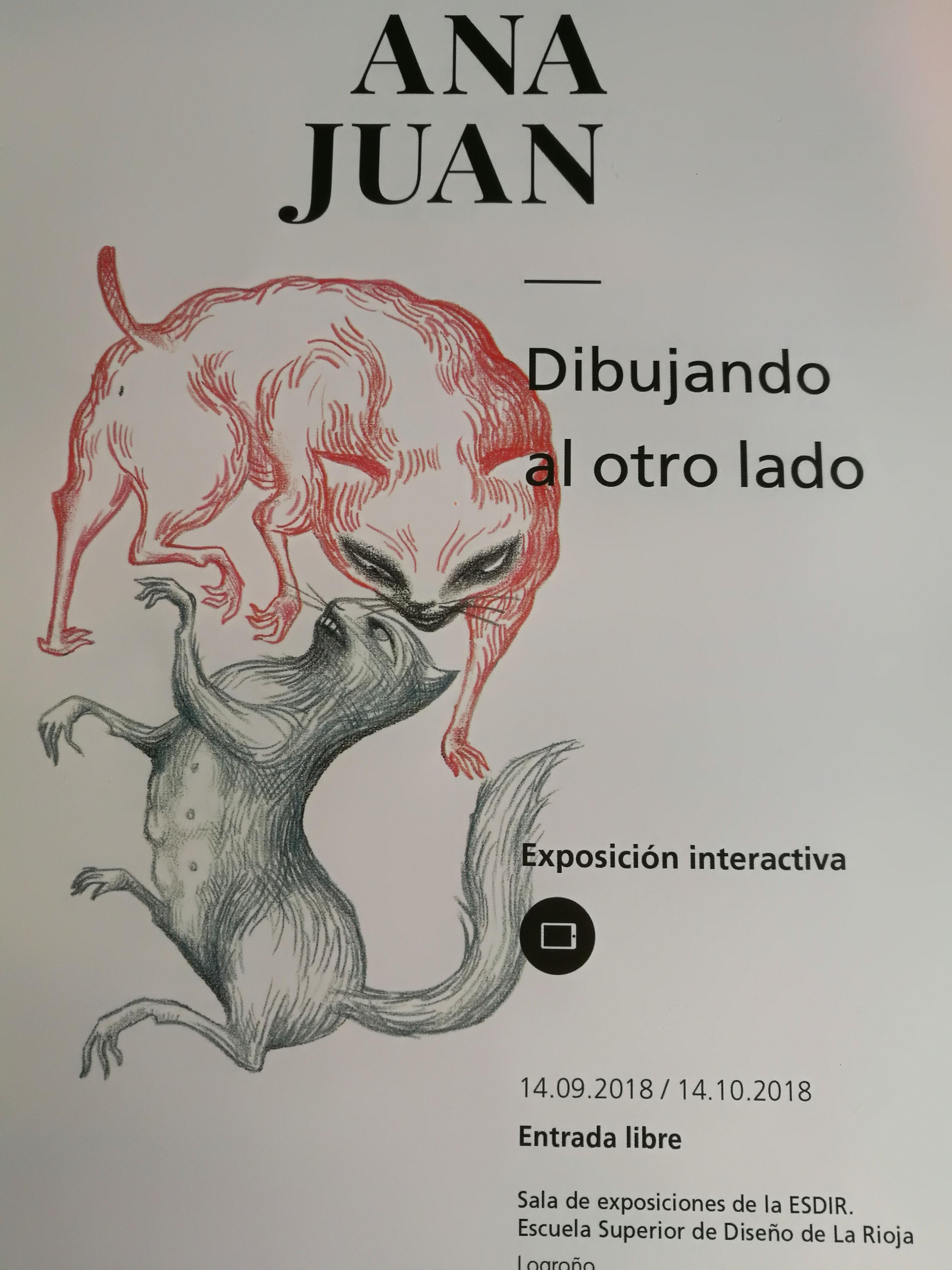 """""""Dibujando al otro lado"""" Exposición interactiva ANA JUAN"""